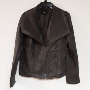 Mossimo faux leather gray jacket
